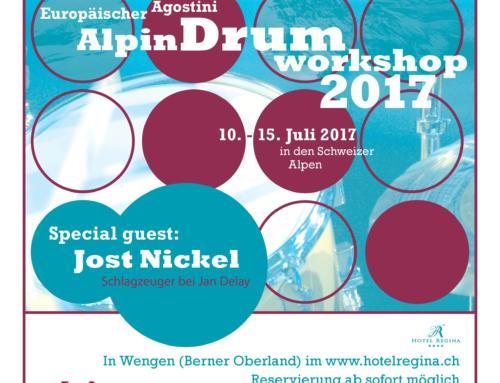 Vom 10. bis 15. Juli findet der beliebte Workshop der Agostini Drum School im Berner Oberland statt