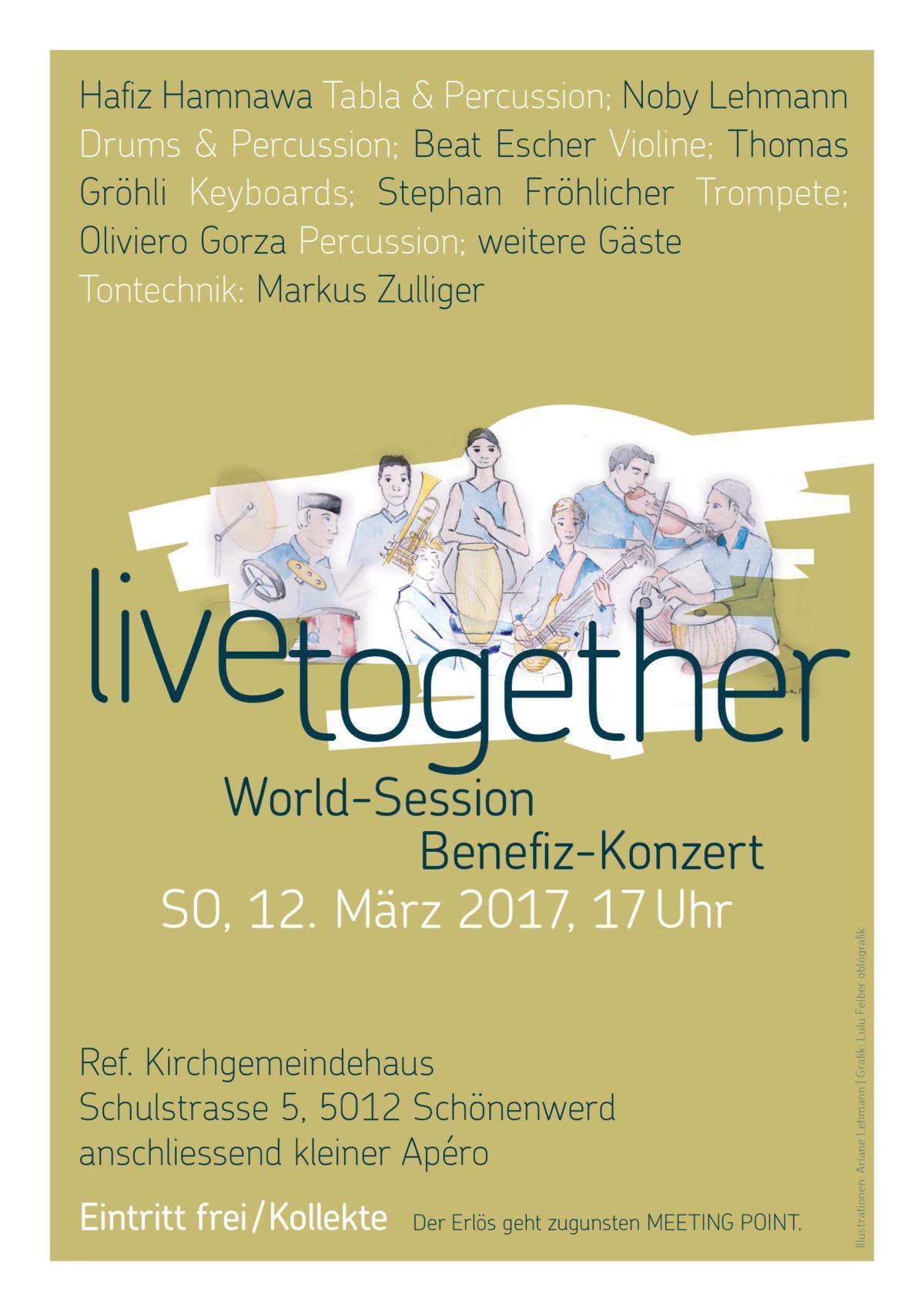 Benefiz-Konzert Agostini Drum School Olten