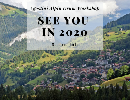 Alpin Drum-Workshop 2019 auf 2020 verschoben