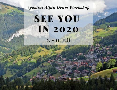 Alpin Drum-Workshop 2019 auf 2020 verschoben
